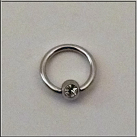 Ball Closure Ring mit Kristall